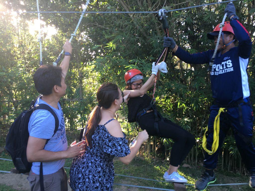aerial walk adventure in tagaytay highlands
