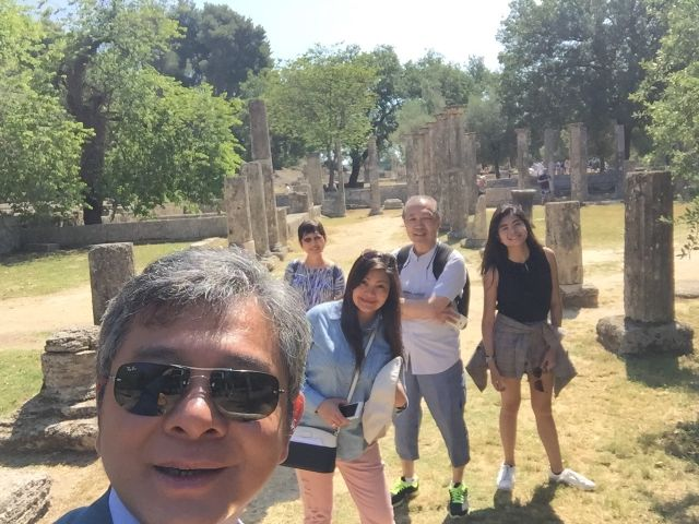 Visiting Olympia in Greece