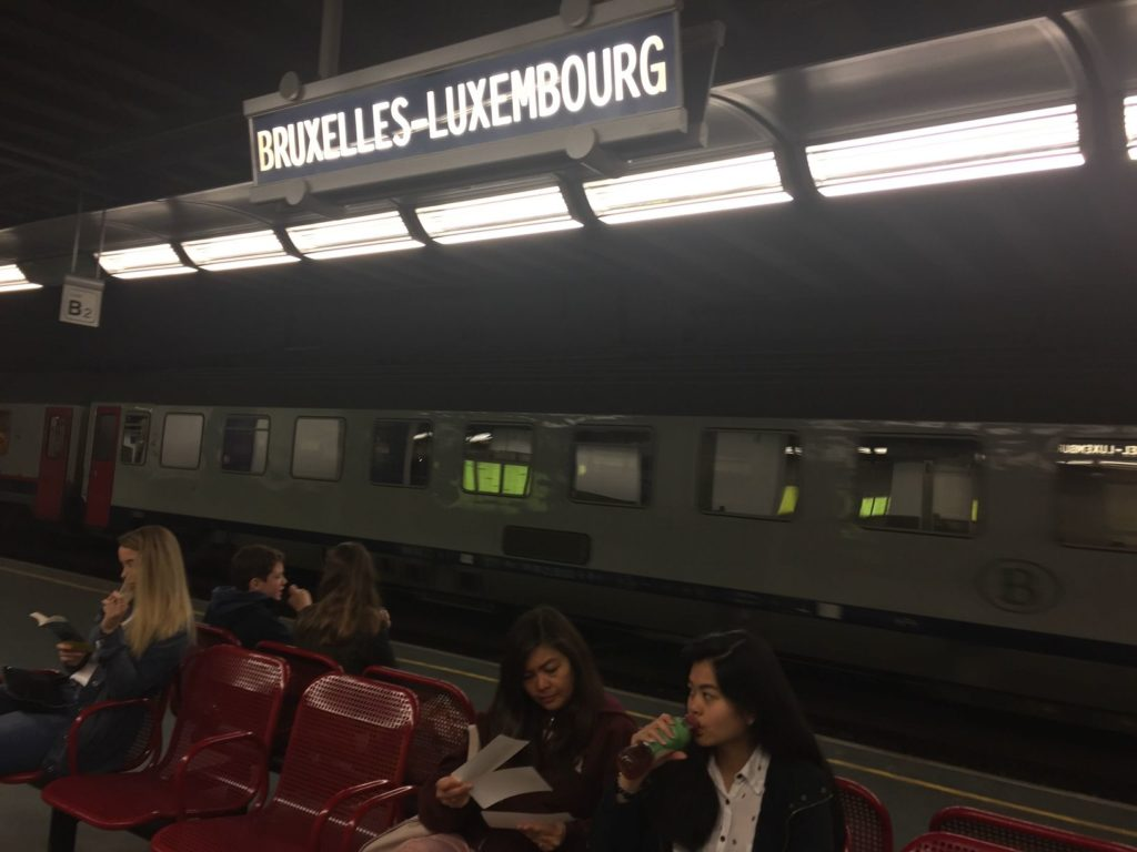 traveling by train from Brussels to Luxembourg