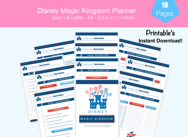 Disney Magic Kingdom Planner