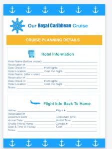 royal caribbean cruise planning
