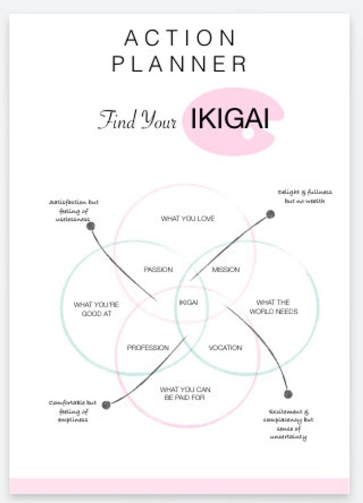 action planner find your ikigai