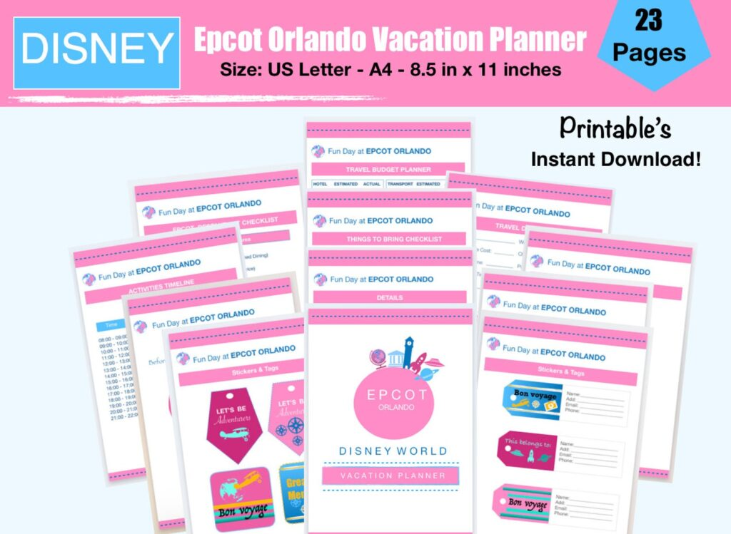 epcot vacation planner