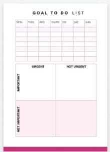 smart goals template printables
