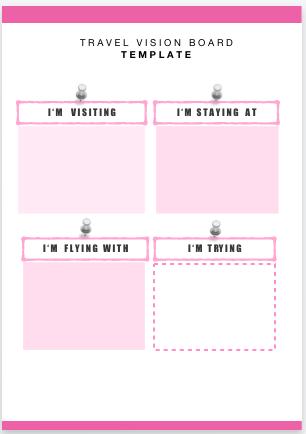 vision board worksheet