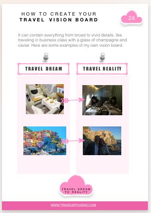Travel Vision Board Sample