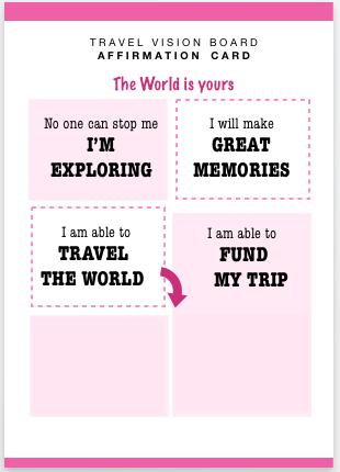 personal vision board template